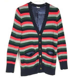 ANTHROPOLOGIE Moth Colorful Striped Long Cardigan